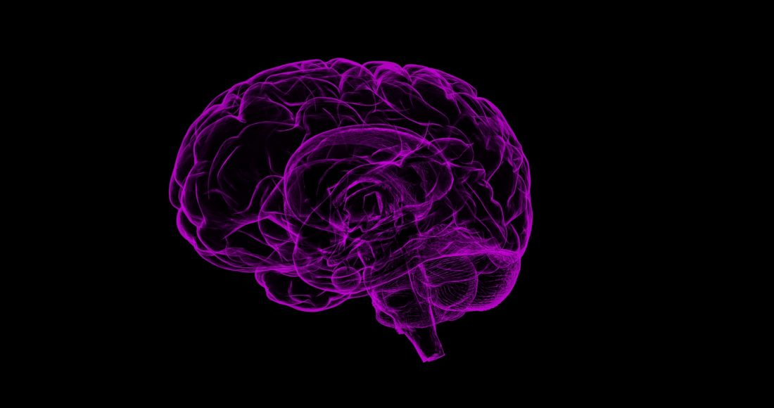 A brain that is under hypnosis